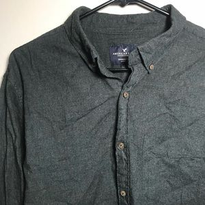 American Eagle Seriously Soft Grey Casual Shirt